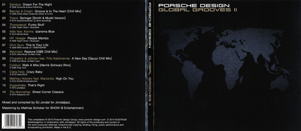 CD artwork of Global Grooves by DJ Jondal