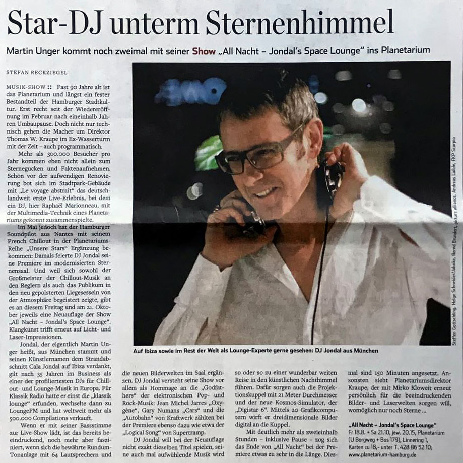 DJ Jondal in Hamburger Abendblatt